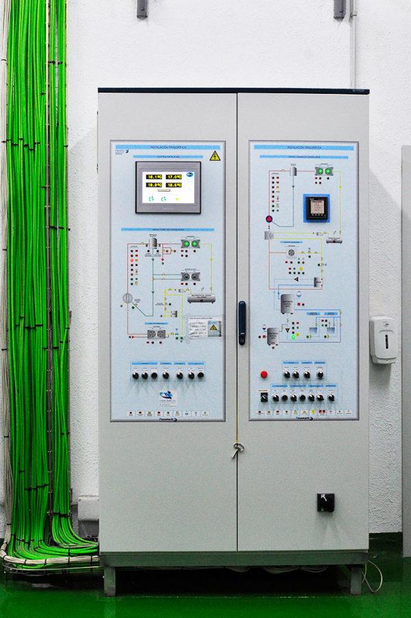Aula De Frio Instituto Marítimo De Vigo. Cuadro Eléctrico De Protección Y Maniobra Con Autómata Y Sistema De Telegestión Para Cámara Frigorífica Y Túnel De Congelación